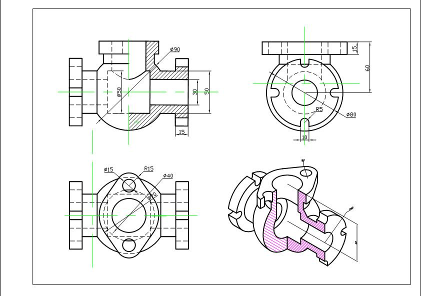bai-tap-ve-chi-tiet-may-autocad-2d 2